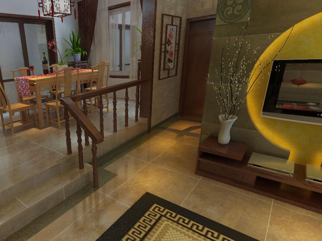 中式装修设计效果图餐厅玄关